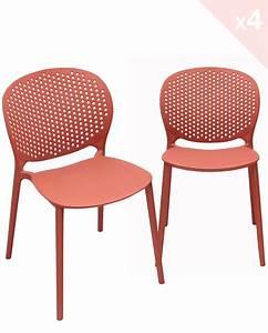 Chaise Exterieur Design : lot de 4 chaises moderne int rieur ext rieur goa ~ Teatrodelosmanantiales.com Idées de Décoration