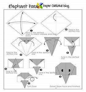 easy origami elephant face origami pinterest With dog easy origami dog origami dog diagram money origami dog origami dog