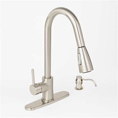 brushed nickel kitchen sink faucet soap dispenser brushed nickel kitchen sink faucet pull out spray with