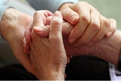 Hospital Patients Hand Hold Elderly Association Education