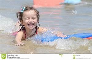 Happy Little Baby Girl Swimming Stock Photo - Image: 47165789