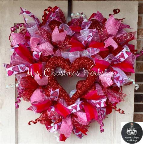 valentine wreath ideas  pinterest valentine