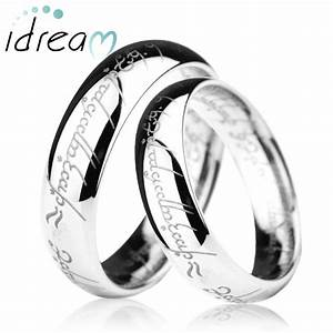 lord of the rings engraved tungsten wedding band domed With lord of the rings wedding ring sets