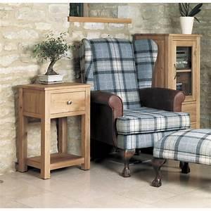 Mobel Solid Oak Living Room Furniture Small Side End Lamp