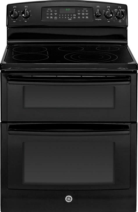 jbdfbb ge   standing electric double oven range  convection black