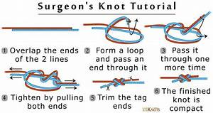 Surgeon U0026 39 S Knot Information And Step By Step Instructions
