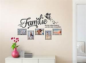 Wandtattoo Familie Wo Das Leben Beginnt Bilderrahmen