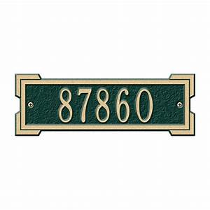 the hillman group address plaques address signs With home depot address letters