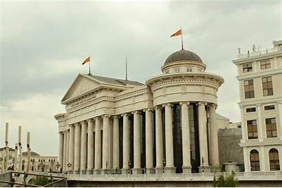 Capital Bulgarian Skopje Monuments Macedonia Imperium Then