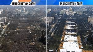 tweet comparing obama  trumps inauguration crowd sizes   government policy todaycom