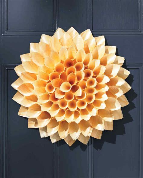 wooden cone wreath martha stewart