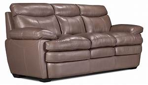 marty genuine leather sofa dark taupe the brick With leather sectional sofa the brick
