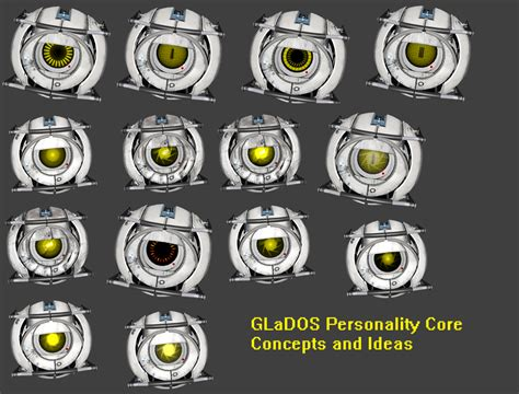 Glados Personality Core 1 By Lefuulei Art On Deviantart