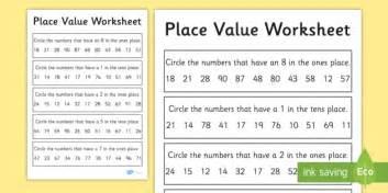 place value worksheet worksheet 2 digits place value worksheet 2 digits