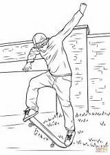 Coloring Skateboarding Printable Drawing Categories sketch template