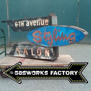 Vintage Neon Sign The Gasworks Factory Seattle WA
