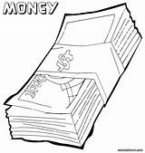 Money Coloring Pages Print Bill Clipart Clip Pdf Designlooter Colorings Library 1000px 57kb sketch template