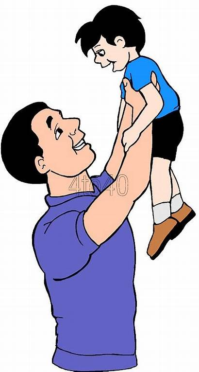 Son Father Clipart Clip Dad Cliparts Sitting