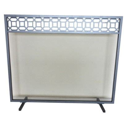 fireplace screens target threshold geometric fireplace screen antique iron