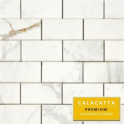 3x6 marble tile 15 95sf calacatta 3x6 quot italian marble polished tile