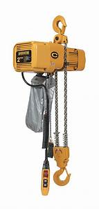 Harrington H4 Electric Chain Hoist  4 000 Lb Load Capacity