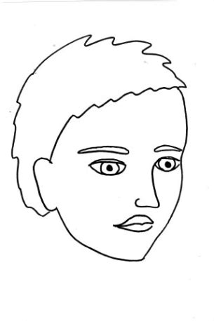 Blank Side Face Painting Templates