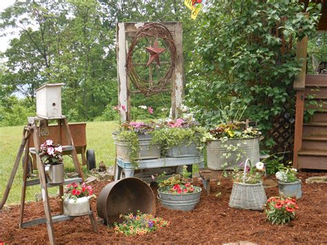Container Gardening Primitive Style Yard Porch Flower