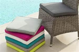 Coussins Chaises De Jardin : galette de chaise de jardin 40 x 40 cm jardideco ~ Dode.kayakingforconservation.com Idées de Décoration