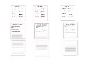American Girl Doll Printable School Worksheets