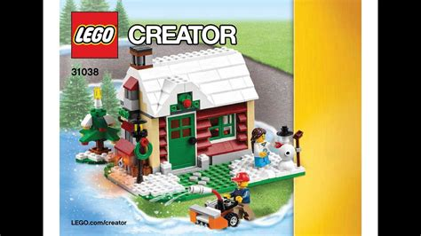 Winter Cottage Lego by Lego 31038 Changing Seasons Winter Cottage