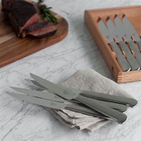 zwilling ja henckels stainless steel porterhouse steak knife set  case  piece cutlery