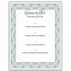 download a free wedding menu card template diy and save With free printable wedding menu card templates