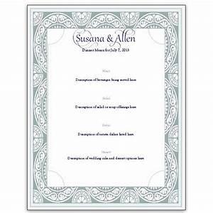 download a free wedding menu card template diy and save With wedding menu cards templates for free