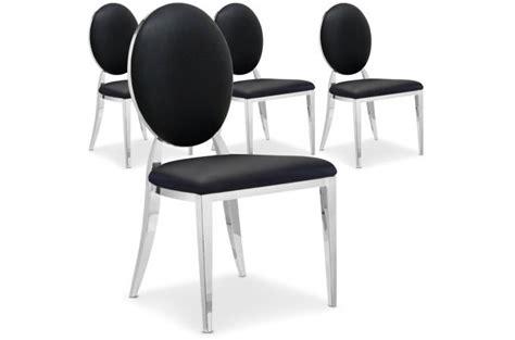 chaises baroques pas cher lot de 4 chaises sofia baroque noir chaise design pas cher