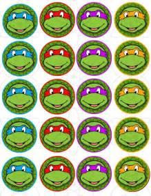 Free Ninja Turtle Cupcake Toppers