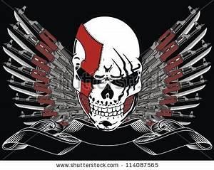 Tattoo Skull And Gun Stock Vectors & Vector Clip Art ...