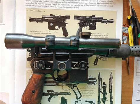 Another Han Solo ANH DL-44 blaster. With SOUND, and ...