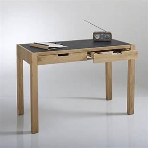 Plateau Bois Bureau : bureau plateau aspect cuir 2 tiroirs watford bureaux ~ Edinachiropracticcenter.com Idées de Décoration