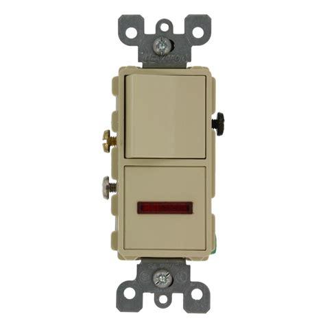 single pole switch leviton 15 amp decora commercial grade combination single pole rocker switch and neon pilot