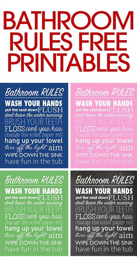 Bathroom Rules Free Printable  Bathroom Rules, Free