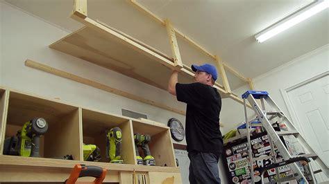 wasted space garage storage shelves jays custom creations