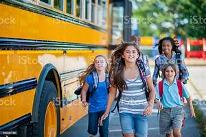 students going to school stock photo image now