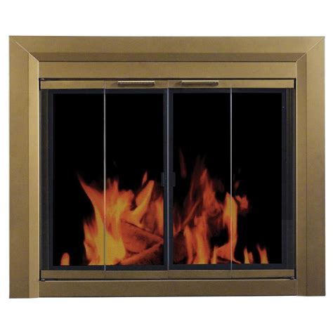 lowes fireplace doors shop pleasant hearth antique brass small bi
