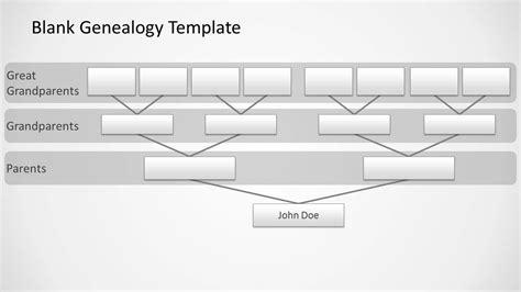 blank genealogy  design  powerpoint slidemodel