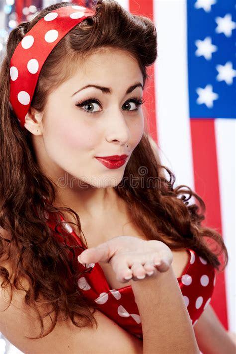 Smiling Pin up Girl Royalty Free Stock Photo Image