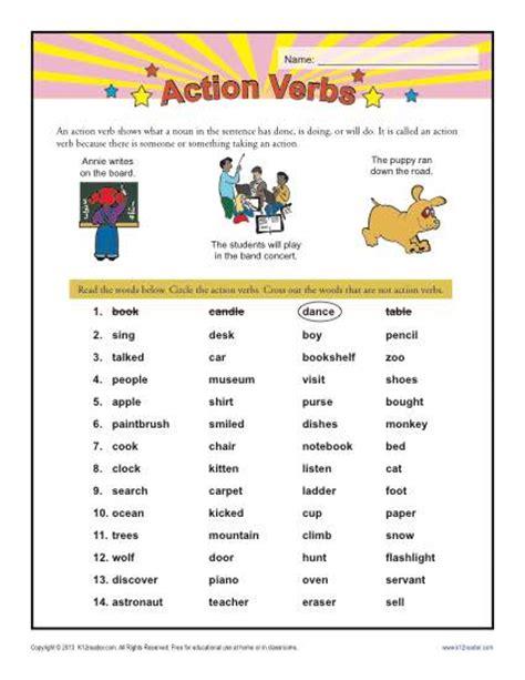 verbs 1st grade verb worksheets