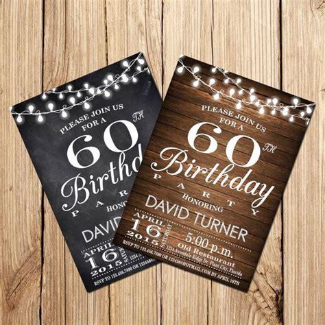 60th BIRTHDAY INVITATION Surprise 60th Birthday