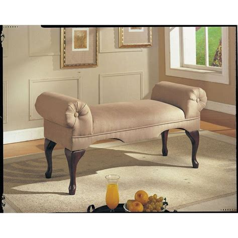 upholstered bench seat bed room living foyer hall