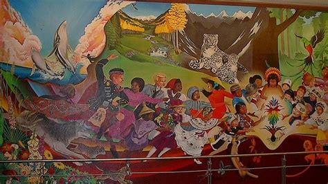 Denver Airport Conspiracy Murals by What S Going On In Denver International Airport