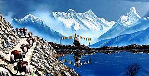 Chart Board Paper Quot Panoramic View Of Annapurna Mountain Nepal Quot Poster By